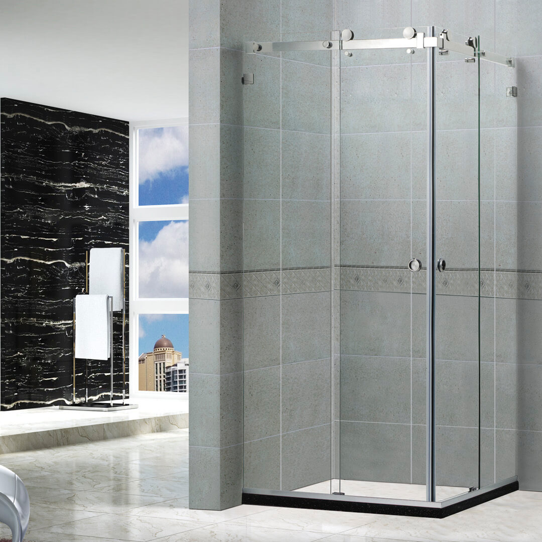 Corner Enter shower door