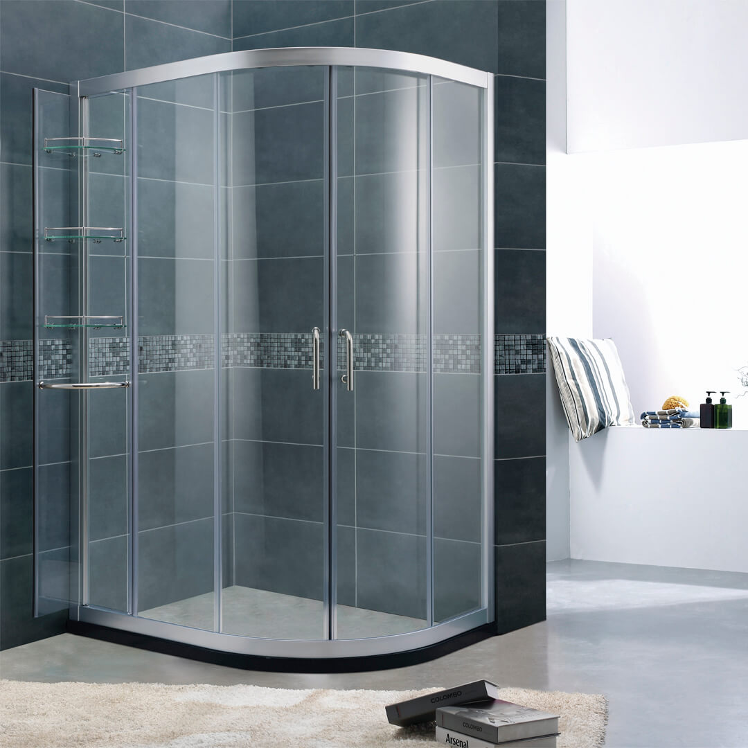 Offset Quadrant shower door