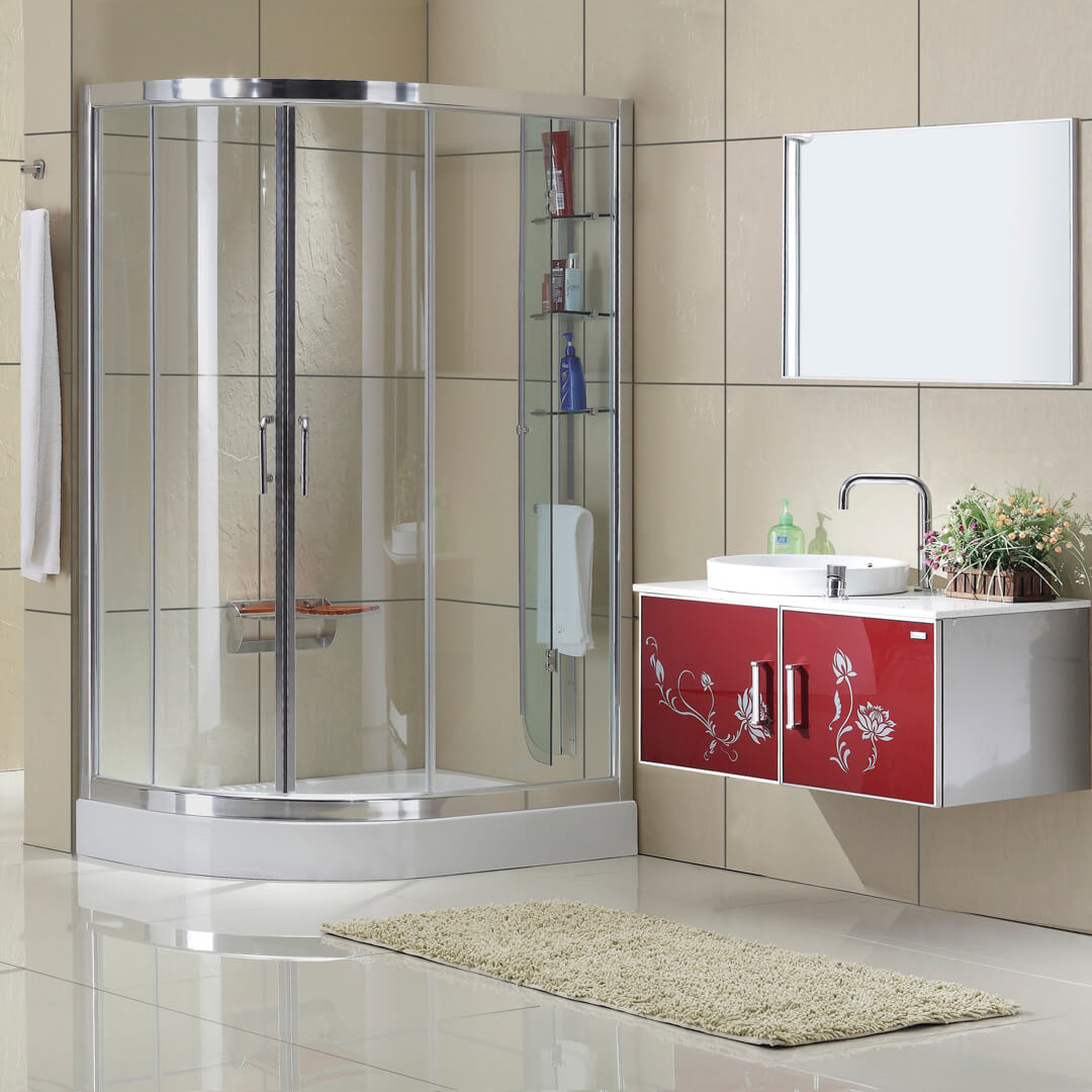 Sector shower door