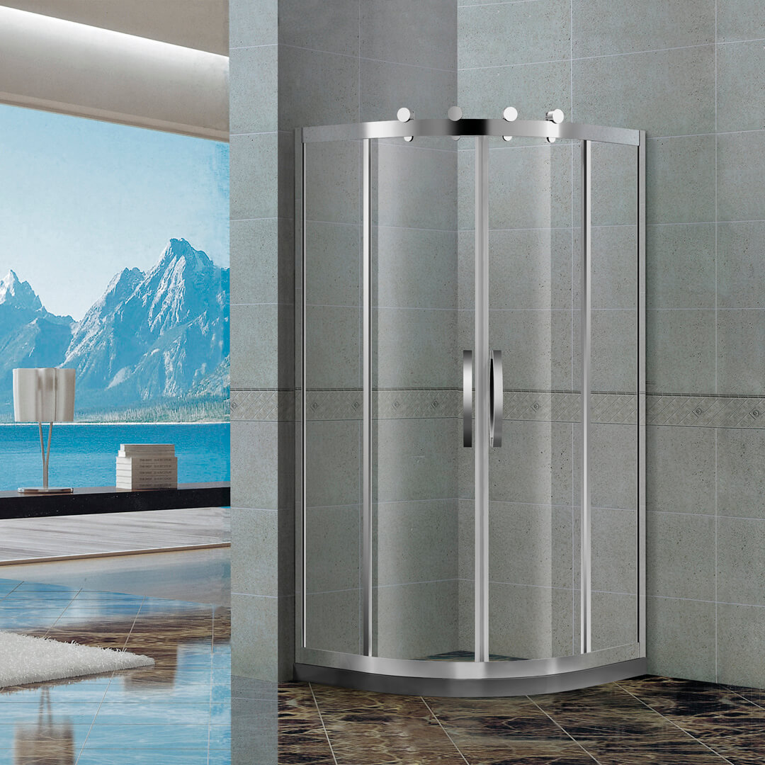 Quadrant shower door