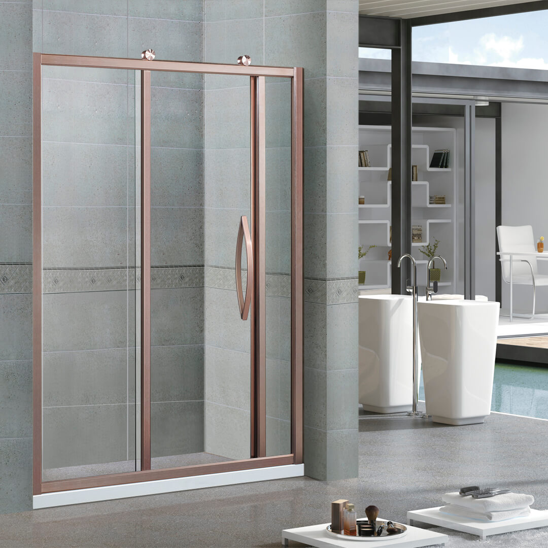 Screen shower door