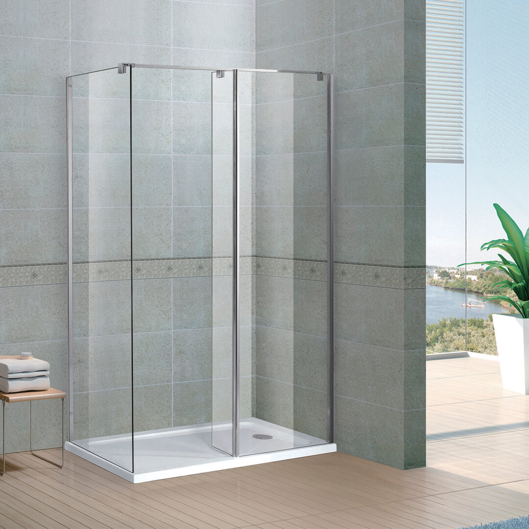Walk-in shower door
